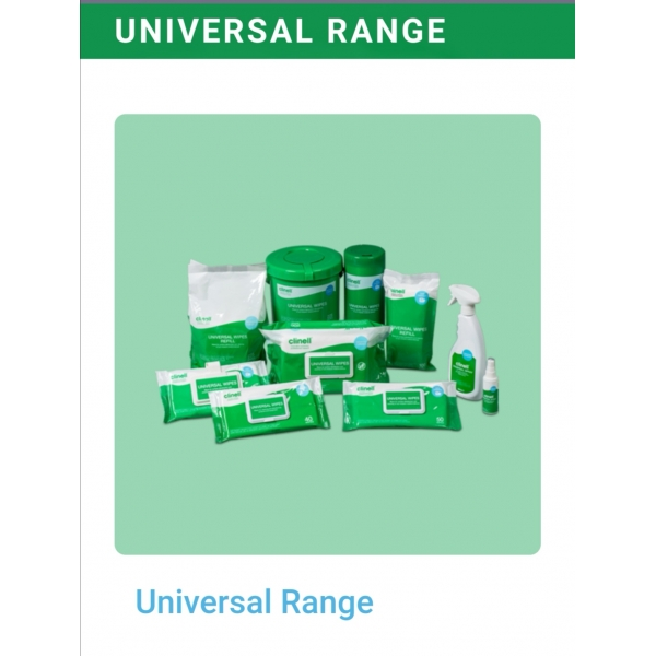Clinell UNIVERSAL WIPES  (100 PCS PER PACK)  x 6 PACKS